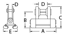 Series 6 Ballslide Segellatte Car 68mm x 41mm Ronstan RC26466